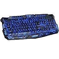 LITBest M200 USB-kabel gaming tangentbord Spel Självlysande Multi färg bakgrundsbelysning 104 pcs Keys
