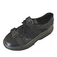 baratos Sapatos Femininos-Mulheres Sapatos Couro Ecológico Primavera Verão Conforto Tênis Creepers Ponta Redonda Branco / Preto