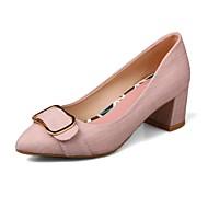 baratos Sapatos Femininos-Mulheres Sapatos Linho Primavera Verão Conforto Rasos Salto Robusto Cinzento / Verde / Rosa claro