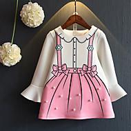 Kinder Mädchen Retro Solide Langarm Kleid Weiß