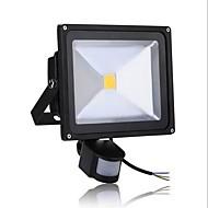 tanie Naświetlacze-1 szt. 50 W Reflektory LED Czujnik podczerwieni / Monitor detekcji ruchu Ciepła biel / Zimna biel 85-265 V Oświetlenie zwenętrzne / Dziedziniec / Ogród 1 Koraliki LED