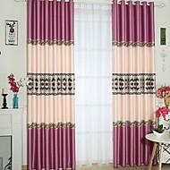 billige Gardiner-gardiner gardiner Stue Moderne Bomull / Polyester Trykket