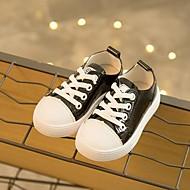 baratos Sapatos de Menino-Para Meninos / Para Meninas Sapatos Couro Ecológico Primavera & Outono Conforto Tênis Cadarço para Bébé Vermelho / Verde / Rosa claro