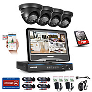 cheap DVR Kits-ANNKE® 8CH 4PCS 720P Weatherproof Security System 4IN1 1080P LCD DVR Supported TVI Analog AHD IP Camera 1TB HD