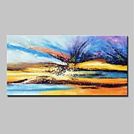 Χαμηλού Κόστους έκπτωση Συλλογή-Hang-ζωγραφισμένα ελαιογραφία Ζωγραφισμένα στο χέρι - Αφηρημένο / Τοπίο Μοντέρνα Καμβάς