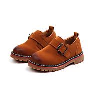 baratos Sapatos de Menino-Para Meninos Sapatos Couro Ecológico Outono & inverno Conforto Oxfords Caminhada Presilha para Infantil Preto / Marron / Vinho
