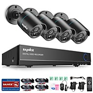 cheap DVR Kits-SANNCE 4CH 4PCS 720P Security System AHD DVR HDMI IR Night Vision Outdoor CCTV Camera Home Surveillance Kits
