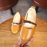 baratos Sapatos de Menina-Para Meninas Sapatos Couro Ecológico Primavera & Outono Sapatos para Daminhas de Honra Rasos Caminhada Presilha para Infantil Bege / Rosa claro / Khaki
