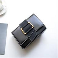 Χαμηλού Κόστους Τσάντες ώμου-Γυναικεία Τσάντες PU Τσάντα ώμου Κουμπί Μαύρο / Ρουμπίνι / Καφέ
