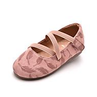 baratos Sapatos de Menina-Para Meninas Sapatos Camurça Verão Conforto Rasos Velcro para Infantil Preto / Rosa claro