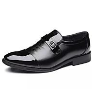 baratos Sapatos Masculinos-Homens Sapatos formais Sintéticos Outono Mocassins e Slip-Ons Preto