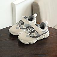 baratos Sapatos de Menina-Para Meninas Sapatos Com Transparência Outono & inverno Conforto Tênis Caminhada Presilha para Infantil Branco / Preto / Rosa claro