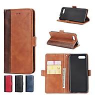 billiga Mobil cases & Skärmskydd-fodral Till Huawei Honor 10 / Honor 9 Plånbok / Korthållare / med stativ Fodral Tegel Hårt PU läder för Huawei Honor 10 / Honor 9 / Honor 8