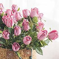 Cheap artificial flowers online artificial flowers for 2018 artificial flowers 1 branch classic vintage european roses tabletop flower mightylinksfo