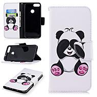 billiga Mobil cases & Skärmskydd-fodral Till Huawei P smart Plånbok / Korthållare / med stativ Fodral Panda Hårt PU läder för P smart