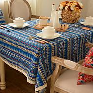 billige Duker-Klassisk Bomull Kvadrat Duge Stripet Borddekorasjoner 1 pcs