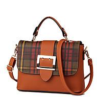 cheap Satchels-Women's Bags PU(Polyurethane) Satchel Sequin / Zipper Crocodile Gray / Dark Green / Brown
