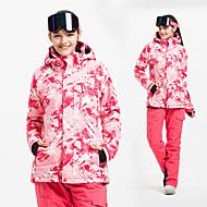 Damen Skijacken & Hosen Wasserdicht warm halten Windundurchlässig Skifahren Alpin Ski Baumwolle POLY Winter Vliesjacken / Vliesen Schnee-Trägerhose Skikleidung
