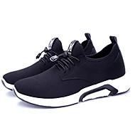 baratos Sapatos Masculinos-Homens Com Transparência / Couro de Porco Verão Conforto Tênis Corrida Preto / Cinzento / Azul