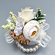 "Wedding Flowers Boutonnieres / Wrist Corsages Wedding / Party Evening Polyester 1.97""(Approx.5cm)"