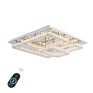 cheap Ceiling Lights-Flush Mount Ambient Light Chrome Metal Crystal, LED 110-120V / 220-240V Warm White / White / Dimmable With Remote Control LED Light Source Included / LED Integrated