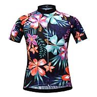 JESOCYCLING Dames Korte mouw Wielrenshirt - Wit Zwart Fietsen Shirt Ademend Sneldrogend Sport 100% Polyester Bergracen Wegwielrennen Kleding / Rekbaar