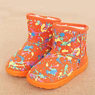 baratos Sapatos de Menina-Para Meninas Sapatos Algodão / Couro Ecológico Primavera Verão Conforto / Botas da Moda Botas Caminhada para Adolescente Laranja / Fúcsia / Vermelho / Botas Curtas / Ankle