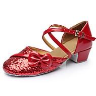 billige Moderne sko-Dame Moderne sko Lakklær Sandaler / Høye hæler Tvinning Tykk hæl Kan spesialtilpasses Dansesko Rød