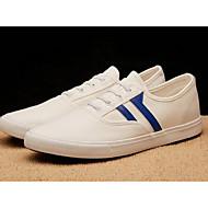 baratos Sapatos Masculinos-Homens Sapatos Confortáveis Lona Outono / Primavera Verão Casual Tênis Branco e Preto / Rosa e Branco / Branco / azul