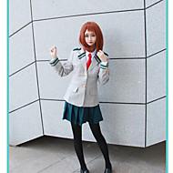 Inspirovaný Moje hrdina Academia / Boku No Hero Academia Ochaco Uraraka / Školky / JK Uniform Anime Cosplay kostýmy Cosplay šaty Jednobarevné / Anime Kabát / Tričko / Sukně Pro Dámské