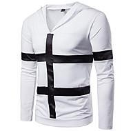 Hombre Básico Tallas Grandes Pantalones - Un Color Blanco / Con Capucha / Manga Larga / Otoño / Invierno