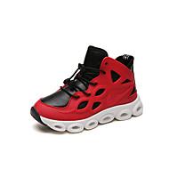 baratos Sapatos de Menino-Para Meninos Sapatos Couro Ecológico Outono & inverno Conforto Tênis Corrida Cadarço para Infantil Preto / Vermelho