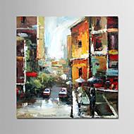 billiga Stilleben-Hang målad oljemålning HANDMÅLAD - Abstrakt / Stilleben Moderna Utan innerram / Valsad duk