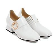 baratos Sapatos Femininos-Mulheres Sapatos Couro Ecológico Primavera Conforto Mocassins e Slip-Ons Sem Salto Branco / Preto / Verde Tropa