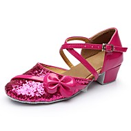 billige Moderne sko-Dame Moderne sko Lakklær Sandaler / Høye hæler Tvinning Tykk hæl Kan spesialtilpasses Dansesko Fuksia