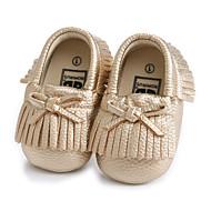 baratos Sapatos de Menina-Para Meninas Sapatos Microfibra Verão Primeiros Passos Mocassins e Slip-Ons Laço / Mocassim para Bebê Dourado