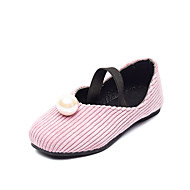 baratos Sapatos de Menina-Para Meninas Sapatos Couro Ecológico Outono & inverno Sapatos para Daminhas de Honra Rasos Caminhada Elástico para Infantil Preto / Bege / Rosa claro