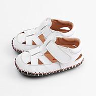 baratos Sapatos de Menino-Para Meninos / Para Meninas Sapatos Pele Verão Primeiros Passos Sandálias Velcro para Bebê Branco / Marron / Vermelho
