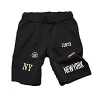 Hombre Chic de Calle Shorts Pantalones - Un Color / Letra Negro
