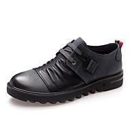 baratos Sapatos Masculinos-Homens Pele Napa Primavera Conforto Oxfords Vermelho / Azul