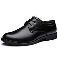 baratos Sapatos Masculinos-Homens Sapatos formais Pele Primavera Oxfords Preto