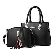 economico Set di borse-Per donna Sacchetti PU sacchetto regola Set di borsa da 2 pezzi Cerniera Blu scuro / Marrone / Vino
