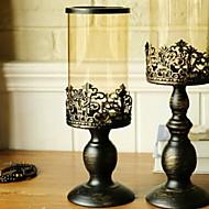 Europska Style Reciklirani papir / Željezo Svijećnjaci Svijećnjak 1pc, Držač svijeća / svijećnjak