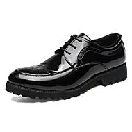 tanie Obuwie męskie-Męskie Skórzane buty Skóra patentowa Jesień Oksfordki Czarny