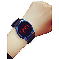 رجالي نسائي ساعة رياضية ساعة المعصم ساعة رقمية رقمي سيليكون أسود / أزرق / روز 30 m الكرونوغراف LCD ساعة كاجوال رقمي كاجوال الحد الأدنى - أسود / أزرق أسود / وردة حمراء أسود / فضي سنتان عمر البطارية