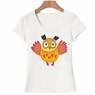Majica s rukavima Žene - Osnovni Dnevno / Izlasci Pamuk Životinja Print Obala L