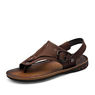 tanie Obuwie męskie-Męskie Nappa Leather Lato Comfort Sandały Yellow / Brown / Khaki