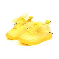 baratos Sapatos de Menina-Para Meninas Sapatos Com Transparência Outono & inverno Conforto Tênis Caminhada Cadarço para Infantil Amarelo / Verde / Rosa claro