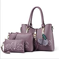 Kadın's Çantalar PU Çanta Setleri 3 Adet Çanta Seti Fermuar için Davet / Parti / Alışveriş Bahar YAKUT / Mor / Açık Mor