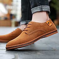 abordables Oxfords pour Homme-Homme Chaussures Formal Daim Printemps & Automne Oxfords Marron / Rouge / Bleu